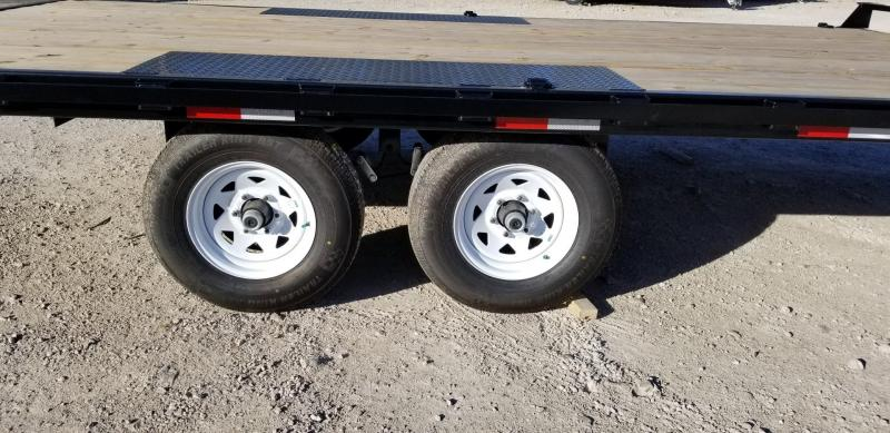 2019 Sure-Trac 8.5x16 Deckover Flatbed Trailer w/Slide Out Ramps 10k