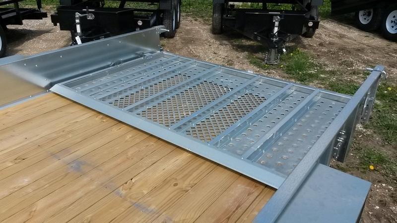 2018 Sure-Trac 7x16 Galvanized High Side Utility 7k