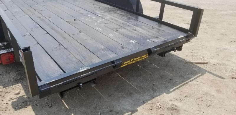 2019 M.E.B 6.4x16 Angle Iron Utility Trailer w/Slide Out Ramps & Brake 7k