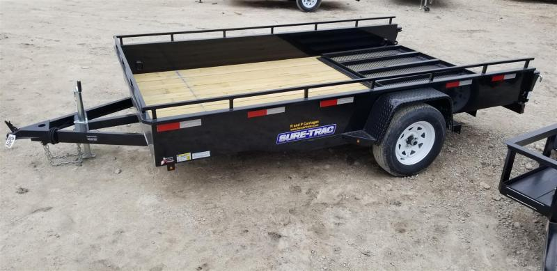 2019 Sure-Trac 7x12 Steel High Sided Utility w/Spring Assisted Gate 3k