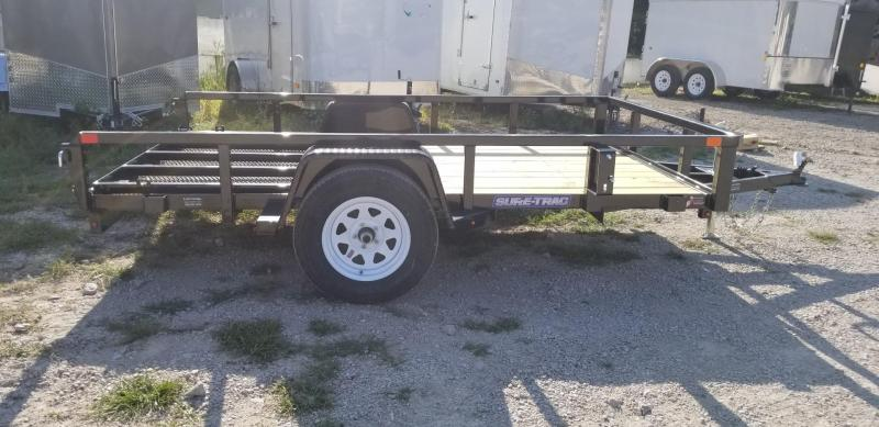 2019 Sure-Trac 7x12 Tube Top Utility Trailer w/Spring Assisted Gate 3k