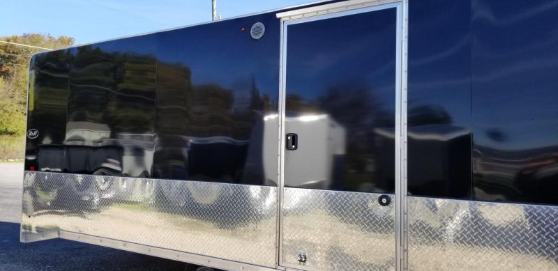 2019 R&R 20ARC All Aluminum 4 Place Enclosed Snowmobile Trailer 6k