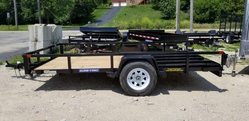 2020 Sure-Trac 7x12 Tube Top Utility Trailer w/Spring Asst Gate 3k