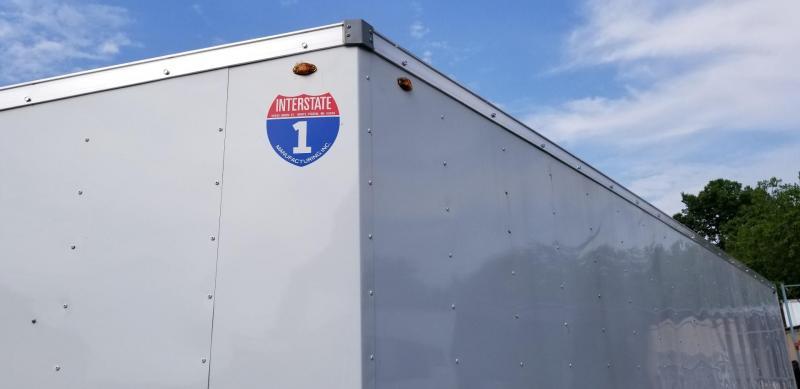 2018 Interstate 8x24 Auto Hauler Enclosed Trailer 10k
