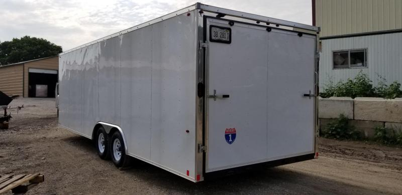 2019 Interstate 8x24 Enclosed Auto Hauler Trailer w/Spring Assisted Ramp Door 10k