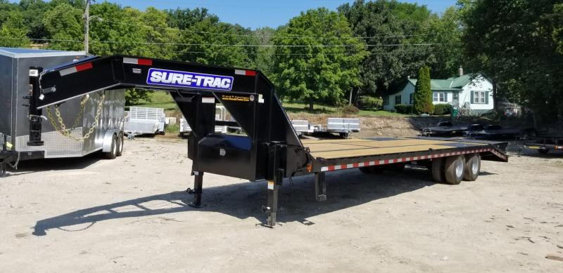 2019 Sure-Trac 8.5x20+5 Gooseneck  Deckover  Equipment Trailer 20k
