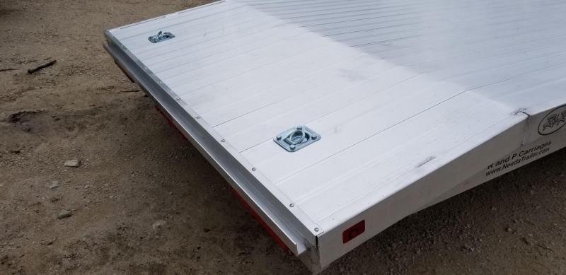 2019 R&R 7x22 All Aluminum Car Hauler w/Wide Front Load 10k