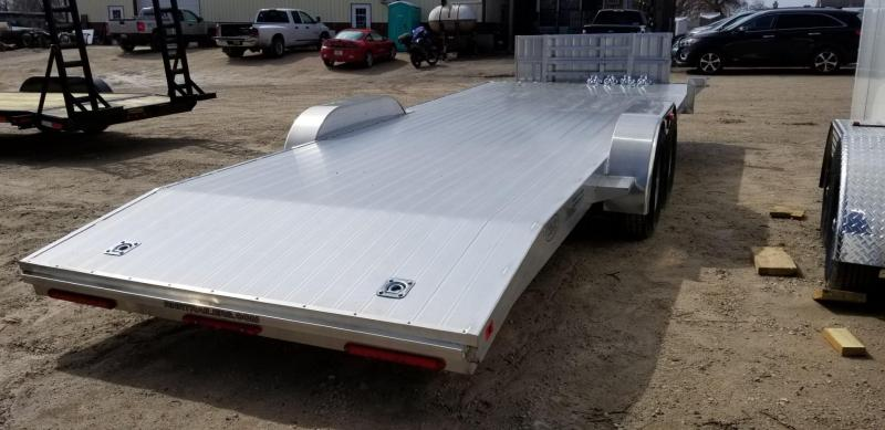 2019 R&R 7x22 All Aluminum Open Auto Hauler w/Wide Front Load 10k