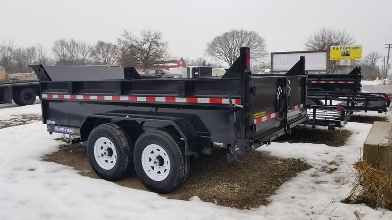 2018 Sure-Trac 82x12 Dual Ram Dump 14k