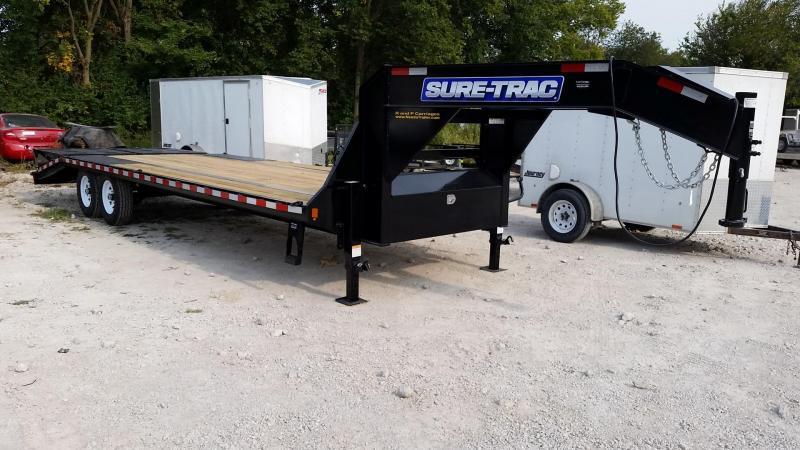 2019 Sure-Trac 8.5x20+5 Gooseneck Deckover Equipment Trailer w/Full Width Ramps 14k