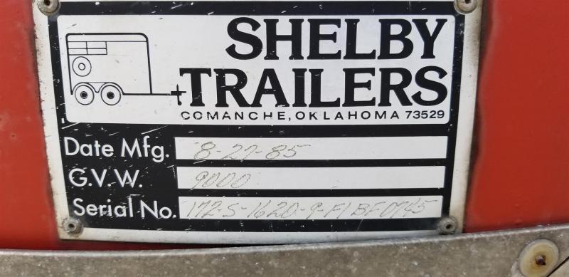 1985 Shelby 7x16 Enclosed Livestock Trailer 9k