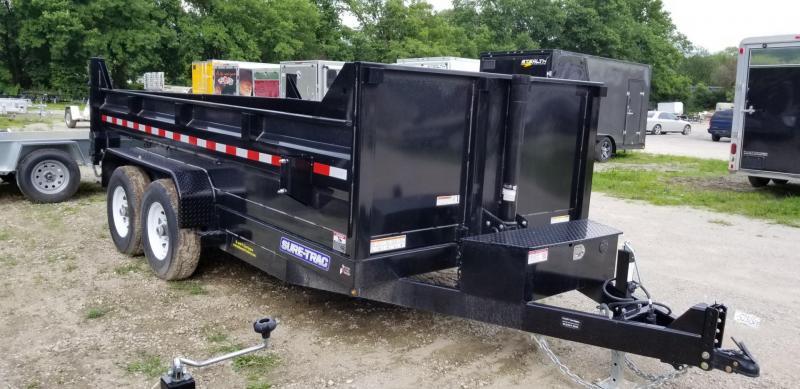 2018 Sure-Trac 82x12 Telescopic Dump Trailer 12k