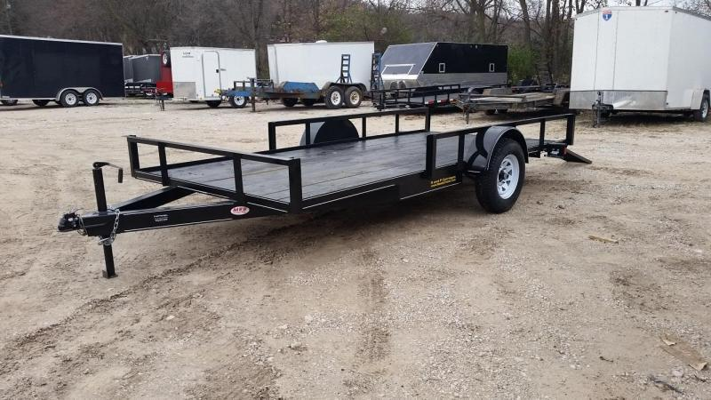 2019 M.E.B 6.4x12 Angle Iron ATV/Utility Trailer w/5' Side Load Ramps 3k