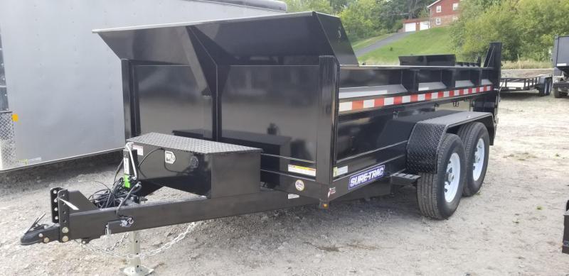 2019 Sure-Trac 82x12 Dual Ram Dump Trailer 12k
