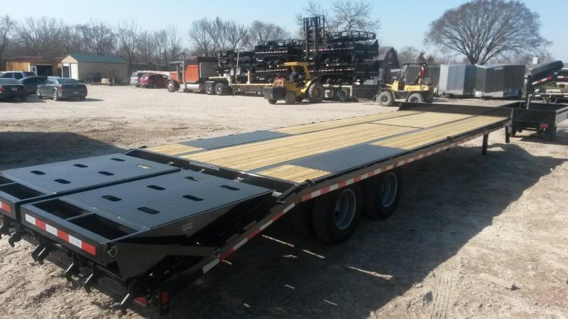 2019 Sure-Trac 8.5x25+5 Heavy Duty Equipment Trailer w/Full Width Ramps 20k