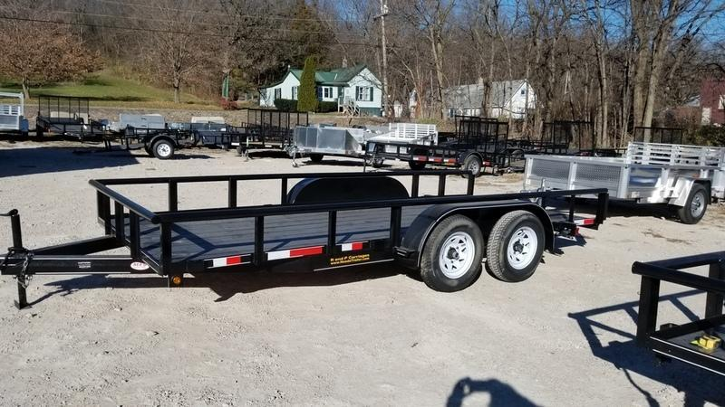 2018 MEB 77x16 Piperail Utility w/Board holders