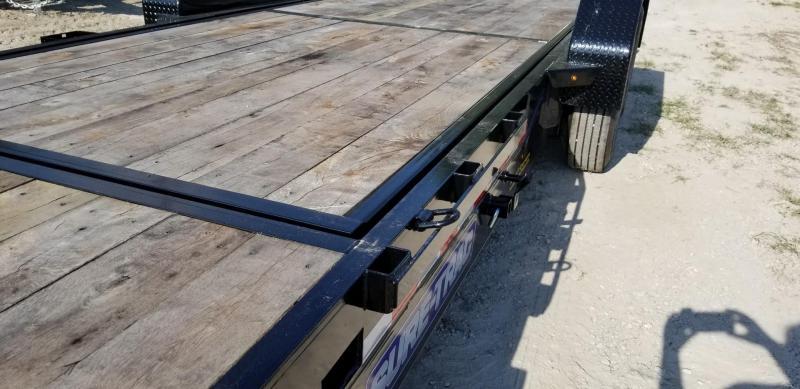 2019 Sure-Trac 7x18+4 Oak Wood Tilt Deck Equipment Trailer 16K