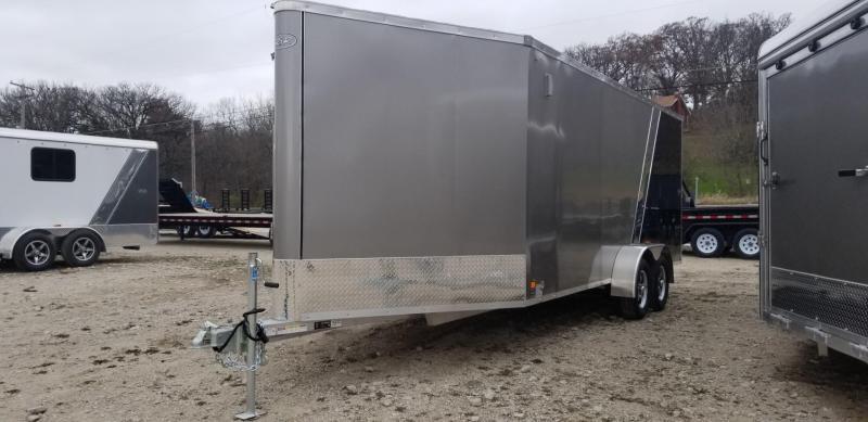 2019 R&R 7x18 SE Aluminum 3 Place Snowmobile Trailer 7k