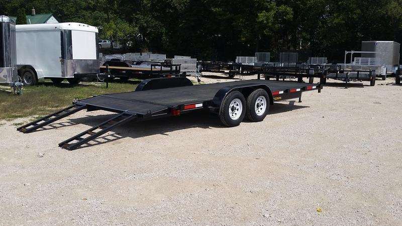 FOR RENT ONLY #17 7x18 M.E.B. Car Hauler