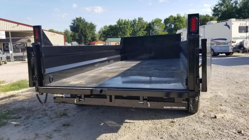 2020 Sure-Trac 82x16 Telescopic Ram Dump Trailer 16k