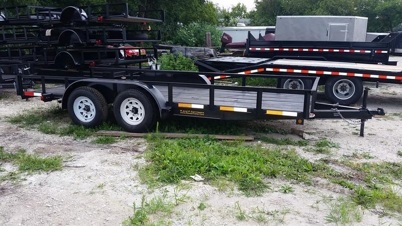 2018 M.E.B. 6.4x16 Utility Trailer w/Board Holders & Brake 7k