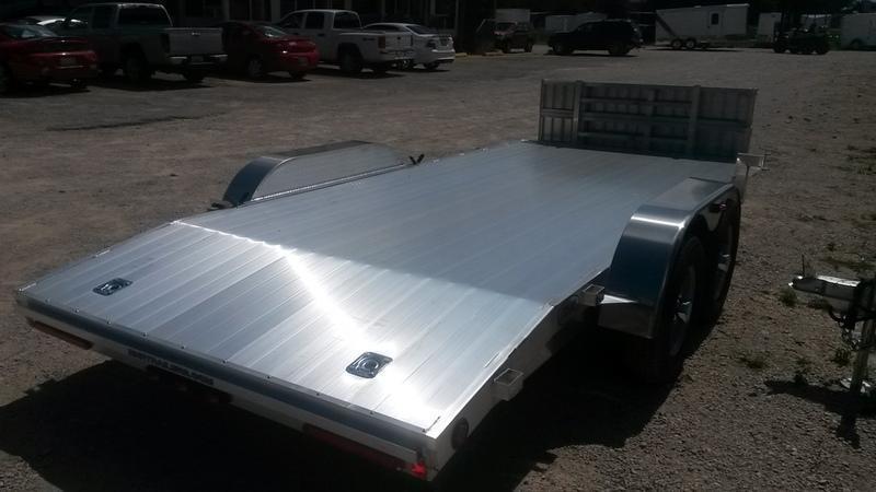 2018 R & R 7x18 All Aluminum Car Hauler 7k