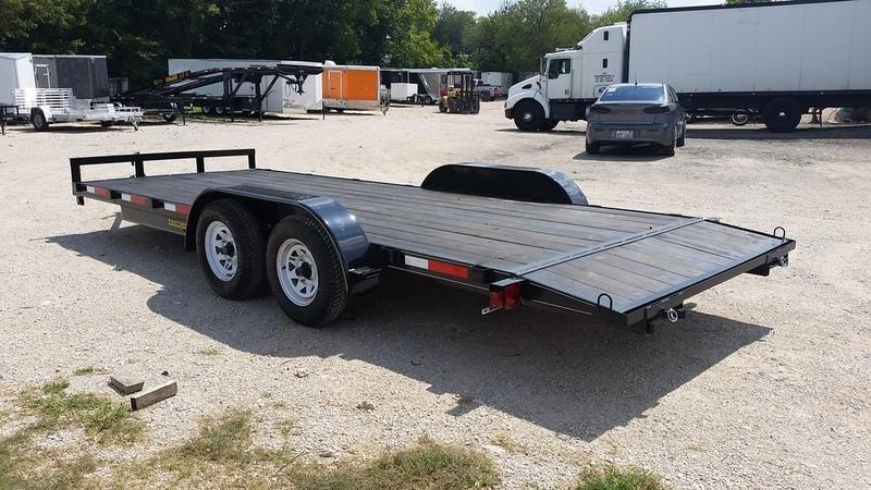 2019 M.E.B 7x18 Wood Deck Open Car Hauler 7K