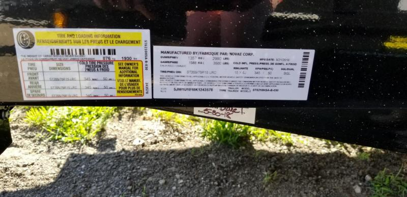 2019 Sure-Trac 5x10 Steel High Side Utility Trailer 3k