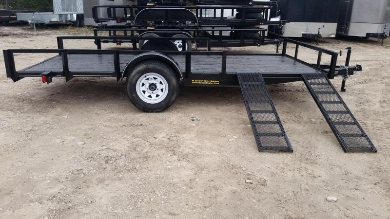 2018 MEB 6.4x12 ATV w/Board Holders & Ramps 3k
