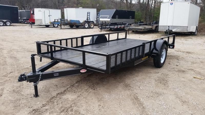 2019 M.E.B 6.4x12 ATV Trailer w/Board Holders and Ramps 3k