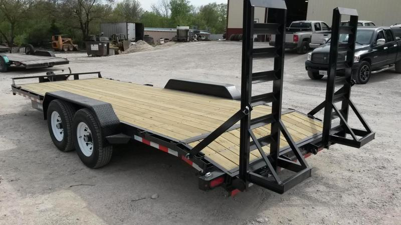 2019 Sure-Trac 7x20 Wood Deck Equipment Trailer 14k