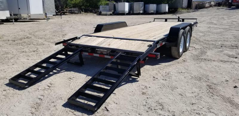 2019 Sure-Trac 7x20 Wood Deck Equipment Trailer 14k