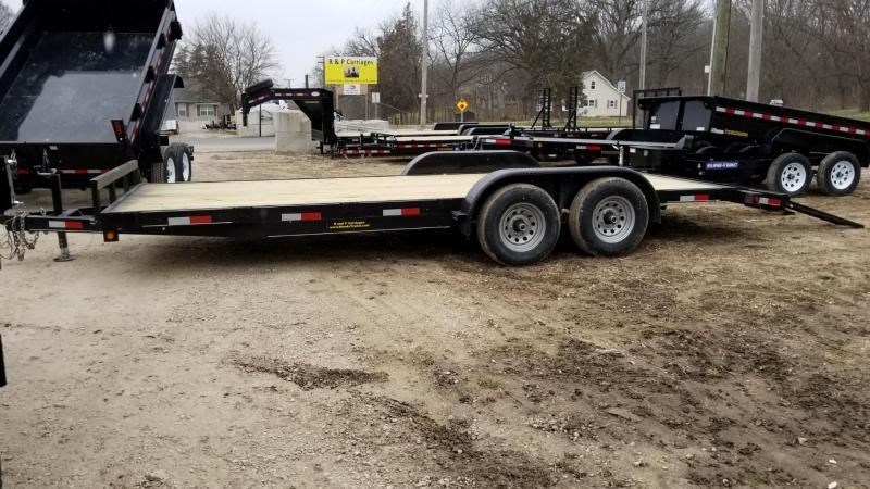 2018 M.E.B 7x20 Wood Deck Car Hauler 10k