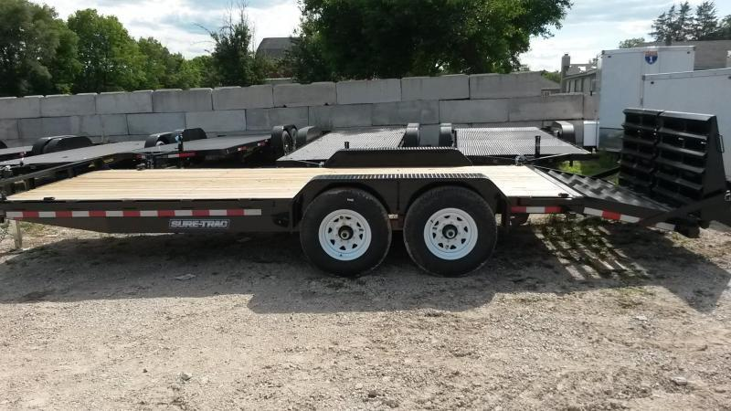 2019 Sure-Trac 7x17+3 Implement Trailer w/Universal Ramps 14k