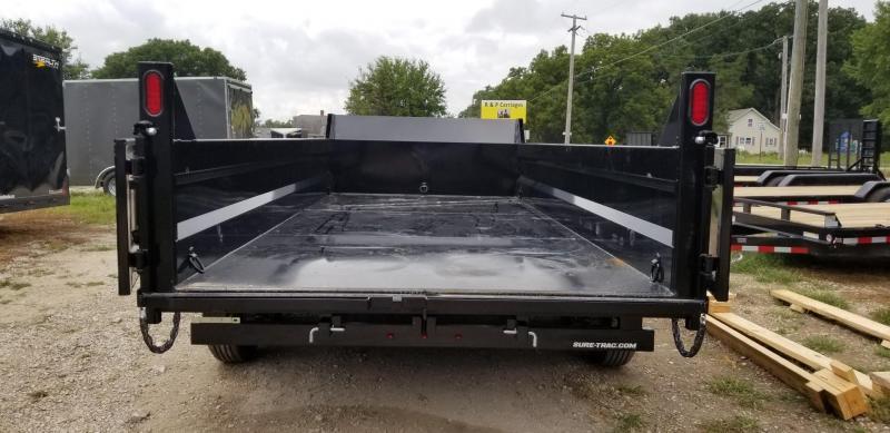 2019 Sure-Trac 82x14 Dual Ram Dump Trailer 14k