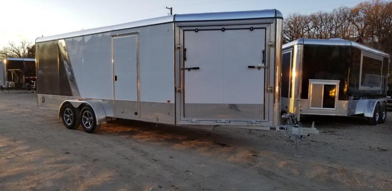 2019 R&R 7x18 PSD All Aluminum Drive Thru 3 Place Snowmobile Trailer 7k