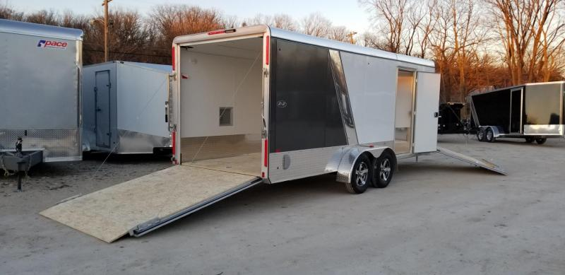 2019 R&R 7x18 PSD All Aluminum Drive Thru 3 Place Snowmobile Trailer 7k