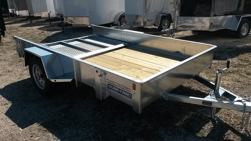 2018 Sure-Trac 6x10 Galvanized High Side Utility w/Spring Assisted Gate 3k