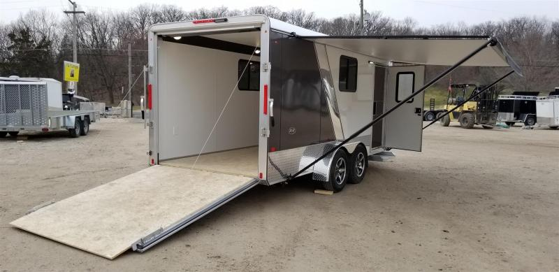 2019 R&R 7x16 VDCP All Aluminum Enclosed Toy Hauler Trailer 7k