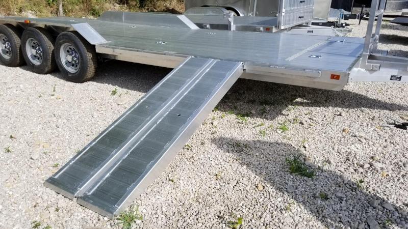 2020 R and R 7x26 All Aluminum Triple Axle Open Auto Hauler 10k