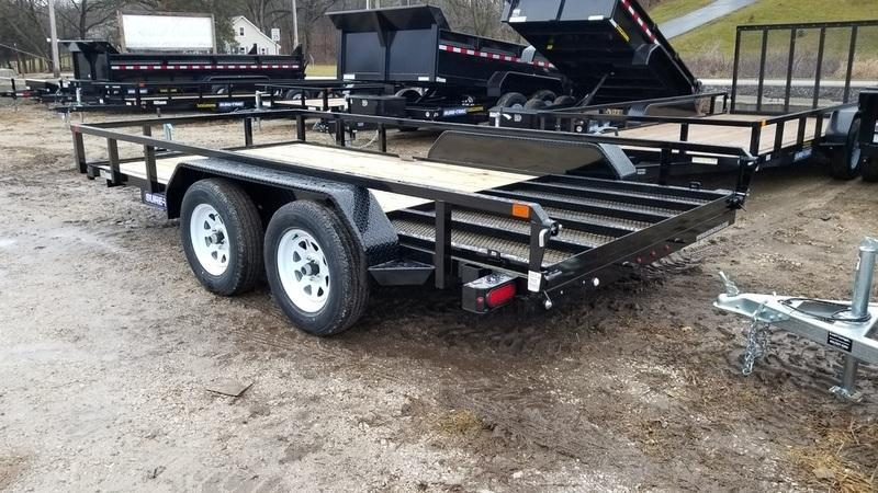 2019 Sure-Trac 7x16 Tube Top Utility w/Gate 7k