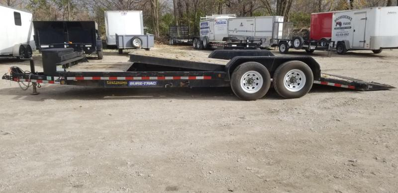 2016 Sure-Trac 7x18+4 Tilt Deck Equipment Trailer 14k
