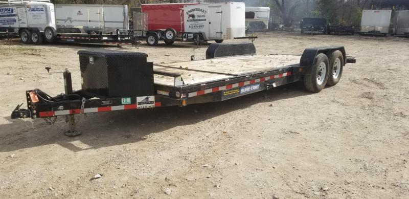2016 Sure-Trac 7x18+4 Tilt Deck Equipment Trailer 14k