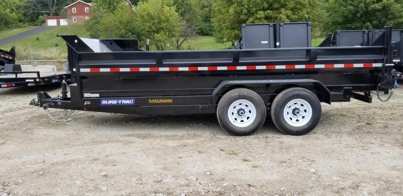 2019 Sure-Trac 82x16 Scissor Ram Lift Dump Trailer 14k