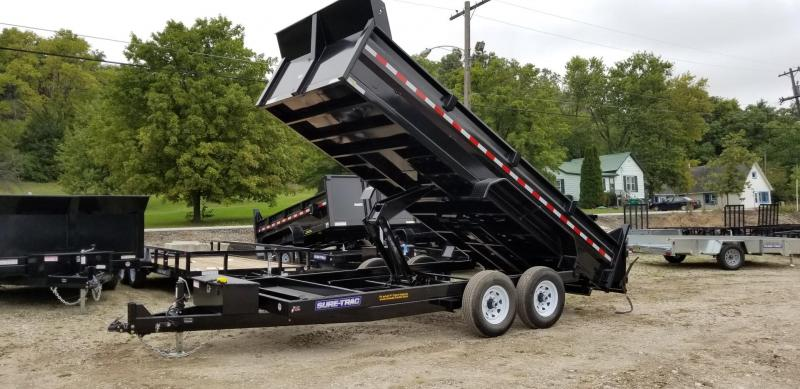 2019 Sure-Trac 82x14 Scissor Ram Lift Dump Trailer 14k