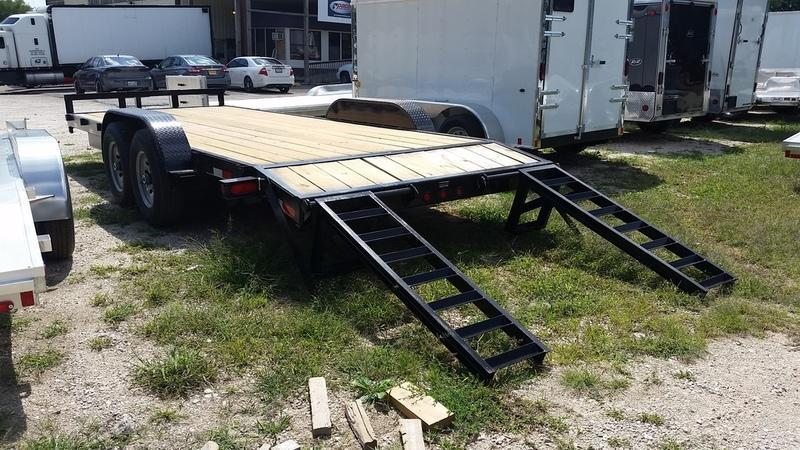 2017 MEB 7x20 Equipment w/Stand up ramps 12K Equipment Trailer