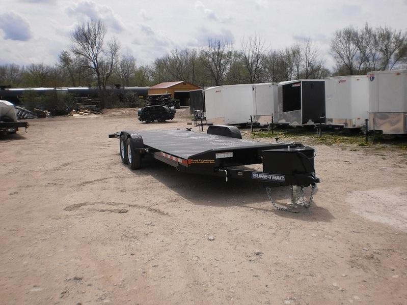 2016 Sure-Trac Steel Deck Car Hauler 7x20 10K