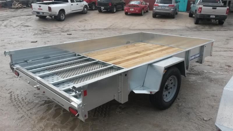 2019 Sure-Trac 5x10 Galvanized High Side Utility Trailer w/Spring Assisted Gate 3k