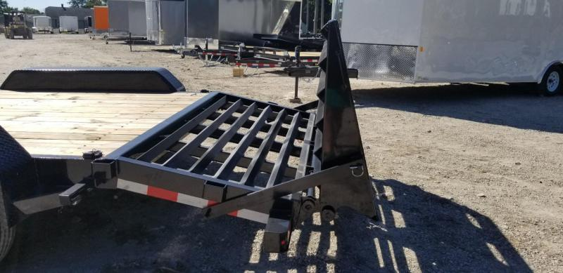 2019 Sure-Trac 7x17+3 Equipment Trailer w/Spring Asst Ramps 14k