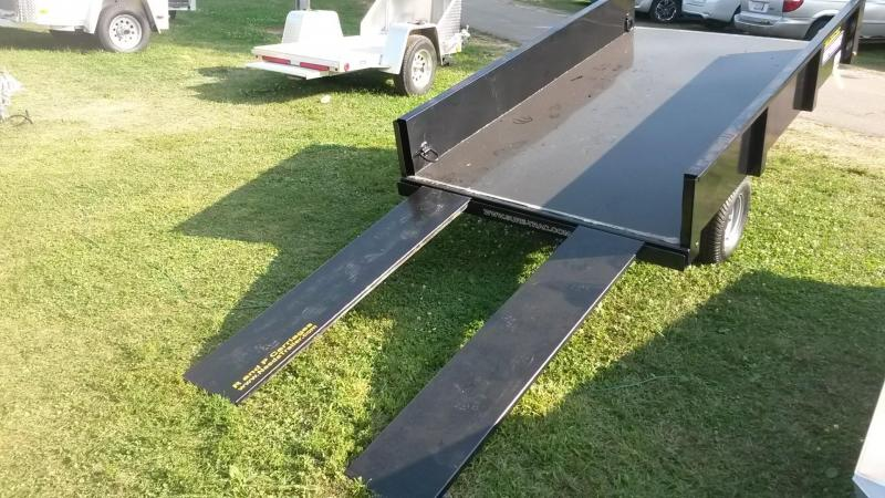 2020 Sure-Trac 4.5x8 Single Ram Utility Dump Trailer 3k